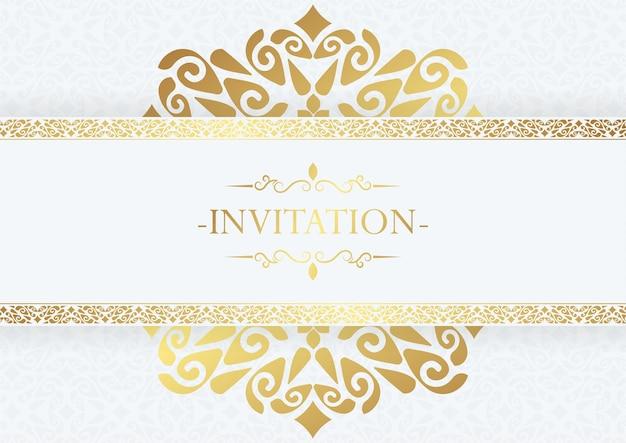 Design de moldura decorativa elegante para convite