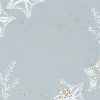 Design de moldura estrela do mar em branco