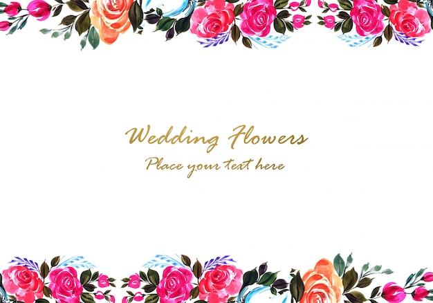 Design de moldura floral colorida decorativa