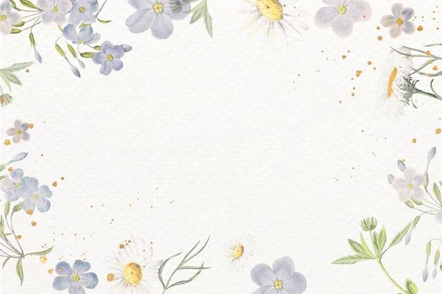 Design de moldura floral em branco