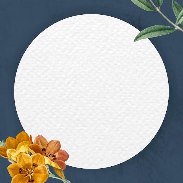 Design de moldura floral redonda