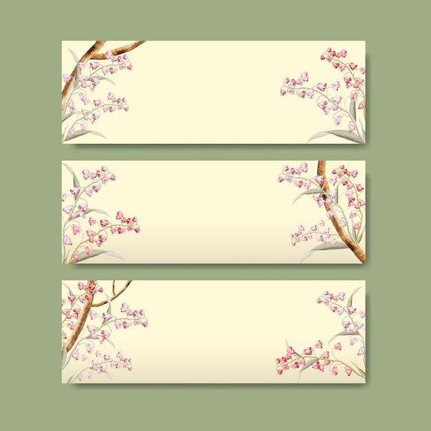 Design de moldura floral