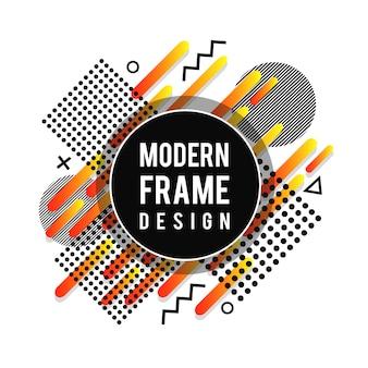 Design de moldura moderna criativa vector