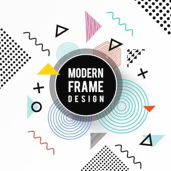 Design de moldura moderna de vetor colorido