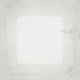 Design de moldura quadrada cinza
