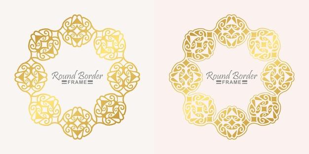 Design de moldura redonda de luxo