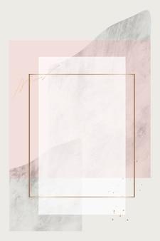Design de moldura retangular em branco