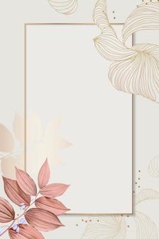 Design de moldura retangular floral