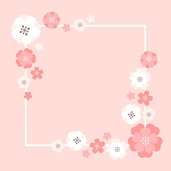 Design de moldura sakura
