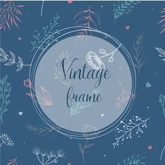 Design de moldura vintage para convites