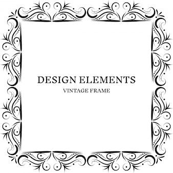 Design de moldura vintage