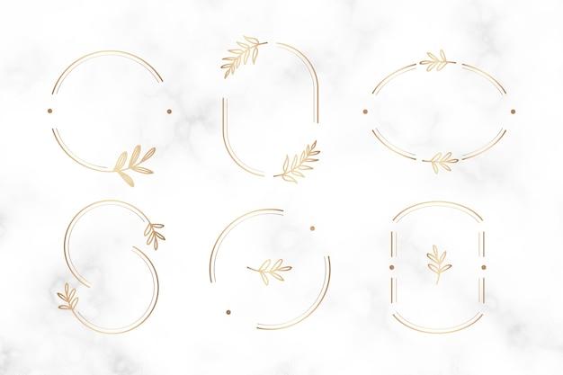 Design de molduras botânicas mínimas