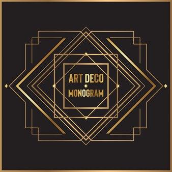 Design de monograma art deco