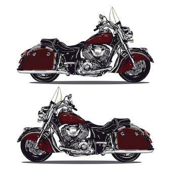 Design de moto vermelho