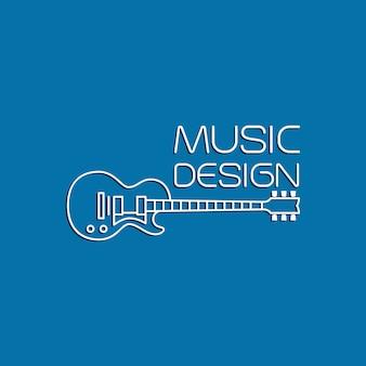 Design de música com guitarra elétrica