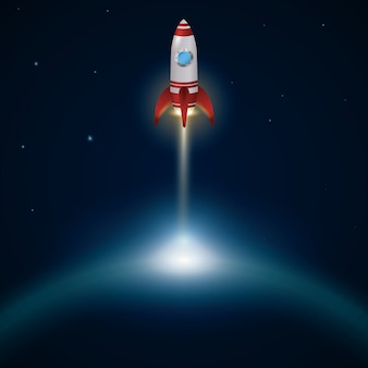 Design de nave espacial.