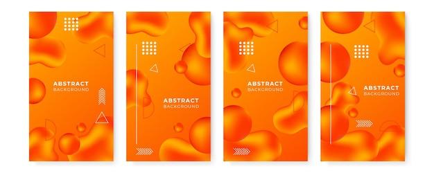 Design de negócios de capa de identidade corporativa moderna. estilo memphis