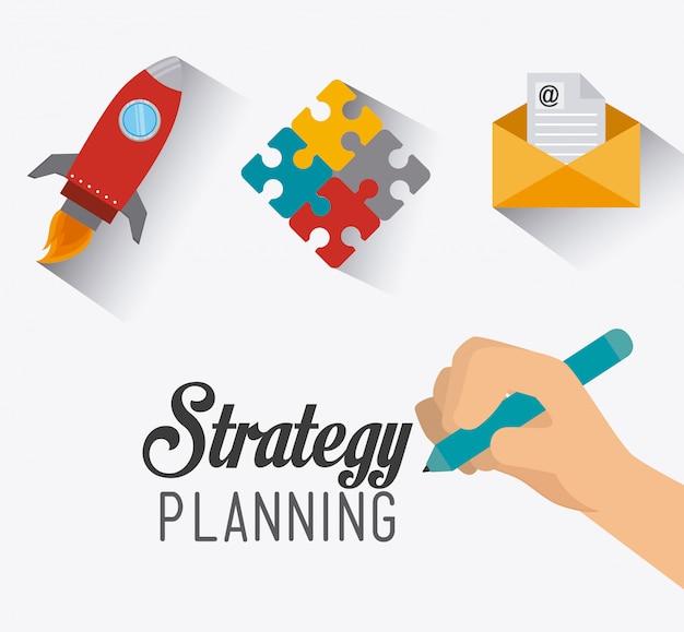 Design de negócios de estratégia.
