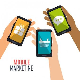 Design de negócios de marketing digital.