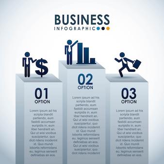 Design de negócios sobre ilustração vetorial de fundo branco