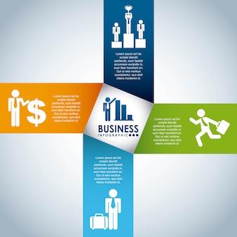 Design de negócios sobre ilustração vetorial de fundo cinza