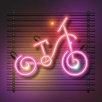 Design de néon de bicicleta