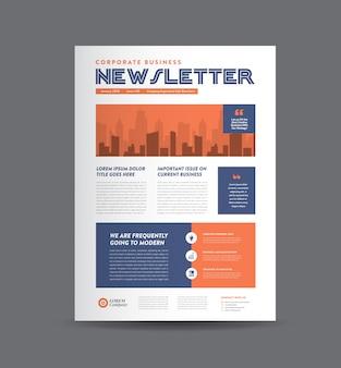 Design de newsletter de negócios | design de diário | design de relatório mensal ou anual