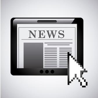 Design de notícias sobre ilustração vetorial de fundo cinza
