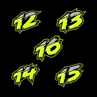 Design de número de corrida