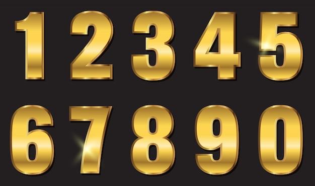 Design de números dourados
