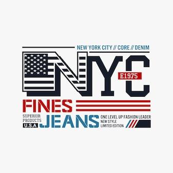Design de nyc para camisetas impressas