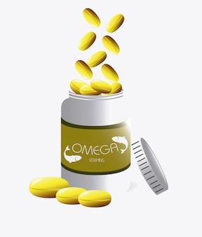 Design de óleo omega.