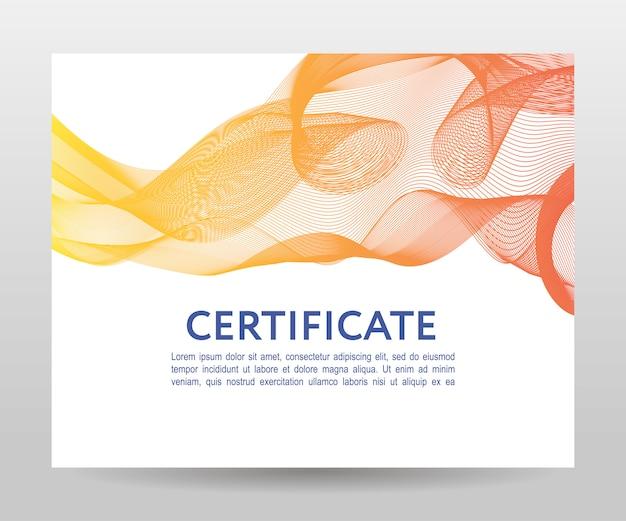 Design de onda abstrata malha colorida para cartão de plano de fundo com o modelo de título e texto