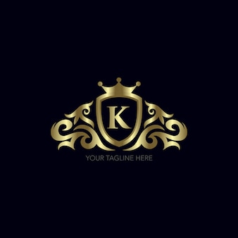 Design de ouro letra k