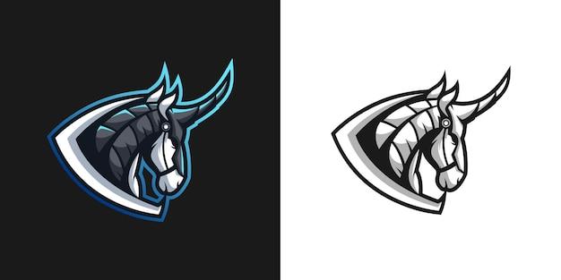 Design de pacote de mascote horse warrior