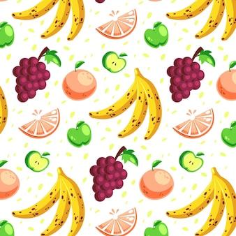 Design de pacote padrão de frutas