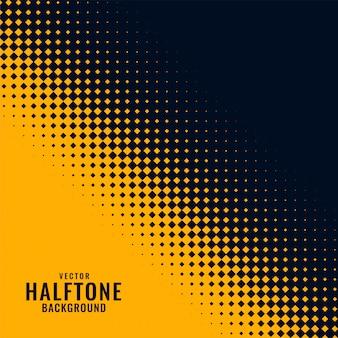 Design de padrão amarelo e preto haltone
