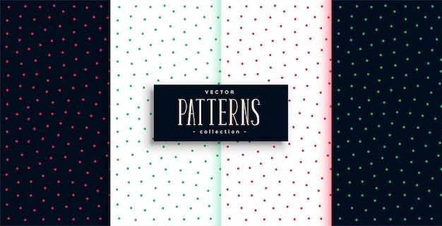 Design de padrão de bolinhas pequenas fofas