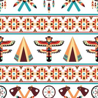 Design de padrão de borda étnica