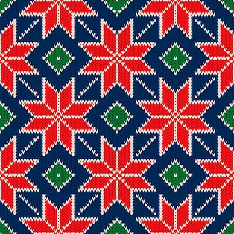 Design de padrão de camisola de malha para férias de natal