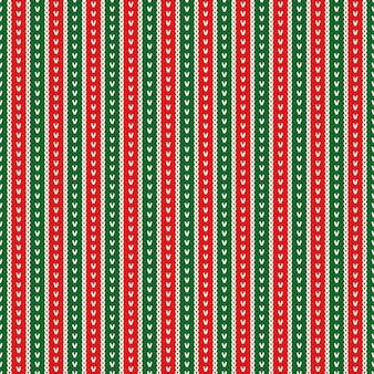 Design de padrão de camisola de malha tradicional para férias de inverno de natal Vetor Premium
