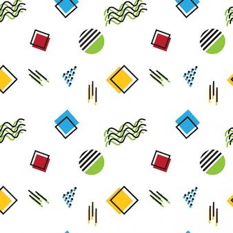 Design de padrão de estilo de memphis