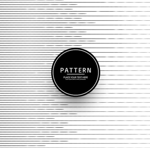 Design de padrão de forma de linhas modernas