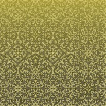 Design de padrão de fundo sem emenda do damasco e papel de parede feito de telhas de textura turca em vetor