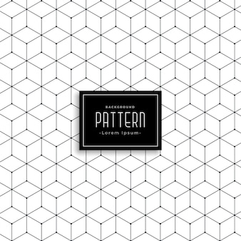 Design de padrão de linha geométrica hexagonal