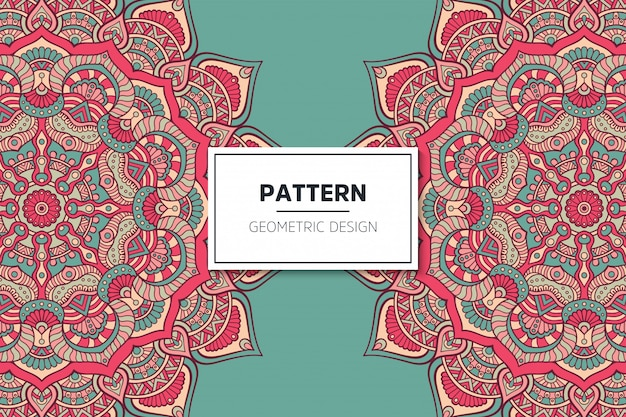 Design de padrão de mandala ornamental de luxo