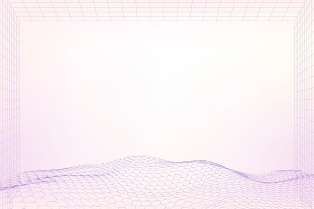 Design de padrão de onda 3d roxa