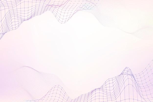 Design de padrão de onda roxa em 3d