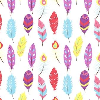Design de padrão de penas coloridas
