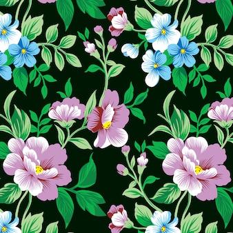 Design de padrão de rosa espinhosa para impressão em tecido